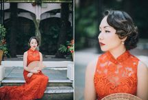Wedding [ double happiness ] / chinese wedding // tea ceremony // red // gold