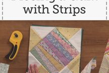 quilt piecing with strips