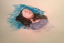 my watercolor, mis acuarelas