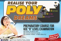 """Preparatory Course for GCE """"O"""" Level Examination / The objective of this course is to prepare students for the upcoming GCE O-level examinations, giving them a better understanding and overview of basic subjects.  Students with the required results can enter into local Polytechnics, Junior Colleges or pursue their education in other local or foreign colleges and universities.  http://www.osac.edu.sg/preparatory-course/preparatory-course-for-gce-o-level-examination"""