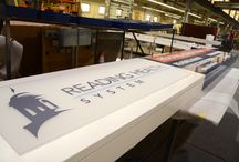 Fabrication / This board displays partially completed projects, in addition to our hardworking employees!