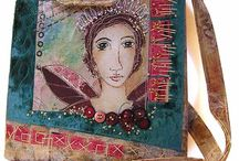 Textile Handbags / Unique and unusual handbags - not your run of the mill department store purses! / by Connie Foster Bissell