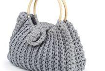 Вязанные сумки,корзины, предметы интерьера