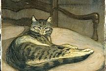 cat in art / by Nejat Yentürk