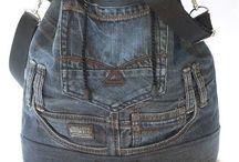 Costura bolsos reciclados