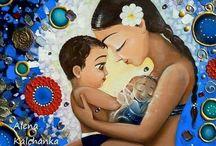 pinturas de familias