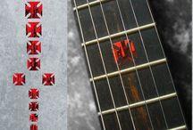 "Blood / inlay sticker ""Blood"" guitar/ukulele decals"