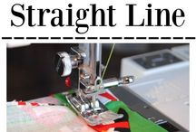 how to sew a sraight line.