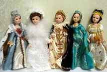 Historical costume dolls