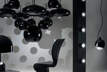 Tom Dixon Spot Lights / Highly functional, and unexpectedly decorative, Spot lamps comprise a copper plated stainless steel body and a massively thick, glass lens, with integrated LED bulbs.