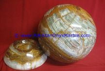 MULTI BROWN ONYX SPHERE ROUND BALL ROOM HOME DECOR