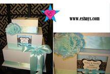 Wedding Gift Card Box- Tiffany Blue / Tiffany Theme Wedding Gift Box