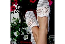 crochet slippers / by Donna Charles