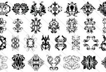 Vintage Ornament Design /  Victorian vintage ornament design with a total collection of 65 different styles. Set of 65 vintage ornaments. Each object is grouped and the vector file is layered out for easy editing.