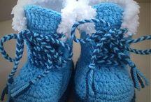 baby sko strikket og hæklet