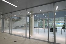 Lloyd's Register of Shipping / Planet completed their work at Lloyds' Register's new offices in Southampton. Acoustic glass partitions and acoustic glass doors from Planet100 range were used for cellular offices. 100 SG, single glazing , was used to separate the circulation areas and the restaurants.
