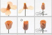 Flori din hârtie si mat textile