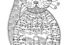 Coloring Pages / Pages to color to help reduce stress.