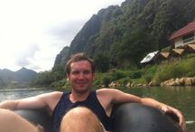 Tubing in Vang Vieng / Tubing in Vang Vieng, Laos has changed a lot over the past few years, gone are the binge-drinking fuelled trips down the river; now it's all about what Vang Vieng should be known about - it's beauty, relax and take a look at the amazing view of Vang Vieng.