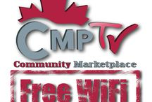 Project Free Wifi - Community Marketplace Media - CMPTV.ca / Digital Signage Management firm turned community network designed to support local business, venues allowing patrons to advertise. Advertise in a single location where you might already be a patron,  or across an entire network. Venues and advertisers working together. Place your Ads on a single CMPTV, or at a single Free Wifi Broadcast location or on all of them! Modern Media Management: Digital Signage Management , Wifi Ad Publishing, Social Media Management, Graphic Design.