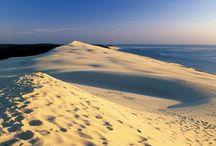 """❂❂  Dune de Pyla ❂❂ / La Dune de Pyla ou Pilat est un site unique au monde. Cette """"montagne"""" de sable se trouve au sud du bassin d'Arcachon, et est un site touristique de renom."""