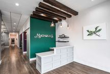 Reception Area Designs / Some clean, chic, elevated reception area designs by Arminco Inc