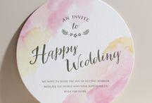 結婚式 招待状 席次表 活版印刷 / 活版印刷の独特な立体感を活かした、おしゃれな結婚式の招待状、席次表。