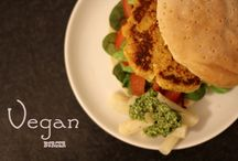 vegan burgers and fritters