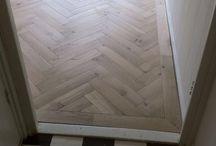 Vloeren / Visgraat pvc betonlook