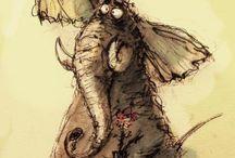Zwierzaki rysunkowe