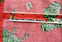 Leon B. Rosenblatt fabrics / Vintage 70s fabric, Screen print by Leon B Rosenblatt