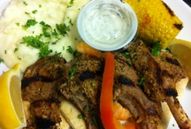 New Zealand lamb chops brought to u by George's Greek Grill