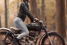 zeny na motorke moodboard