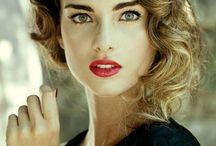 Rote Lippen Bild