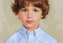 Retratos niños y niñas maniquis