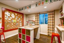 Basement Craft Spaces and Craft Rooms / A place to craft and create is wonderful to have; put the basement or a small space to use!