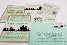 Detroit Skyline Wedding Invitations / by Gourmet Invitations