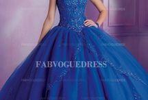 vestidos xv azul
