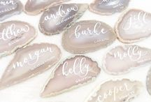 Geode // Wedding Theme Inspiration Decoration