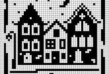 WGC - Bygninger / Wayuu, Graphghans, Cross Stitch pattern