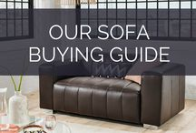 Our Sofa Buying Guide / We've made a guide of all the things you need to consider when buying a sofa! You can see the full guide here: https://nyde.co.uk/blog/sofa-buying-guide/. Sofa buying tips for furniture in living rooms and family rooms.