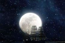 Ships, sea, pirate, fantasy landscape