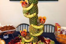enfeites com frutas
