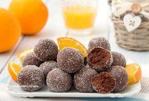 Tartufi arancia e cioccolato
