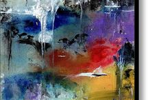 Watercolor and Acrylic / Watercolor and acrylic abstract paintings