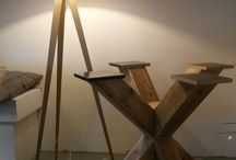 pied table bois