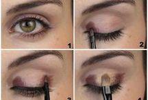 Maquillage des yeux noisette