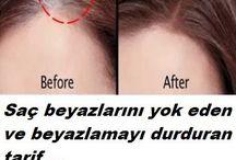saç bakımı için