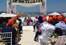 Santorini Hindu wedding / Santorini Hindu wedding by Marryme in Greece http://www.marryme.com.gr
