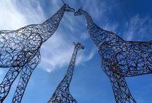 metal giraffe
